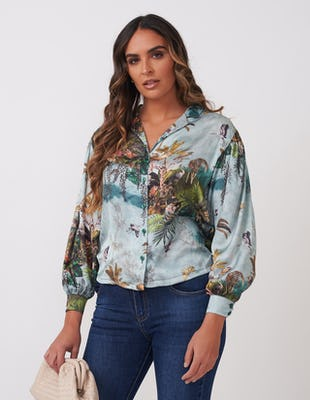 Tropical Jungle Print Shirt