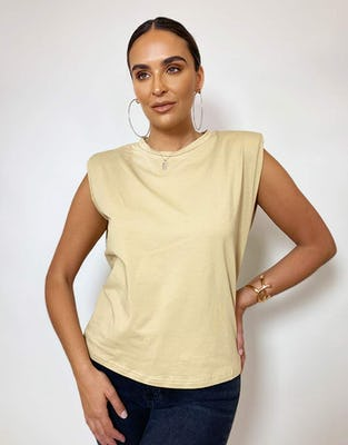 Camel Shoulder Pad T-Shirt