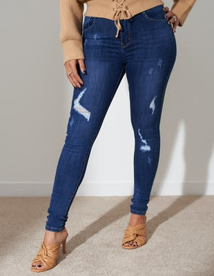 Dark Wash High Waist Skinny Jeans