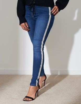 Diamante Panel Denim Jeans