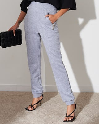 Grey Slim Fit Jogging Bottoms