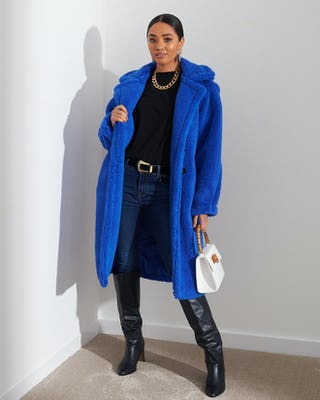 Cobalt Blue Teddy Coat