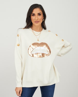 Cream Lips Jumper