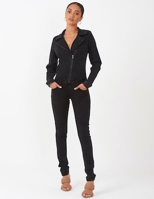 Black Denim Jumpsuit