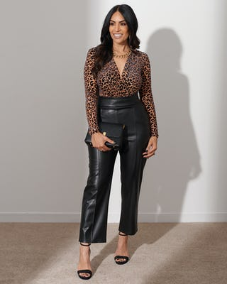 Brown Leopard Print Bodysuit