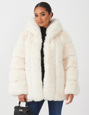 Ivory Faux Fur Coat