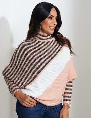 Pink Striped Jumper