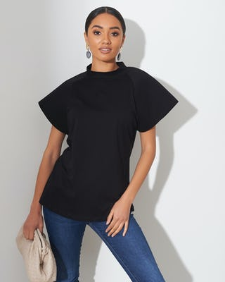 Black Bell Sleeve T-Shirt