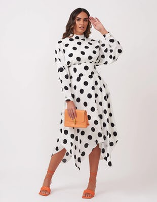 WHITE SPOT UC AW2020 DRESS MIDI