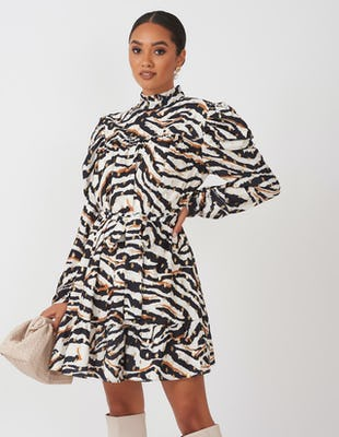 Zebra Print Tea Dress