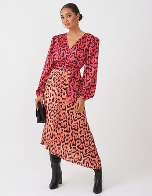 PINK LEOPARD UNIQUE AW2020 DRESS MIDI