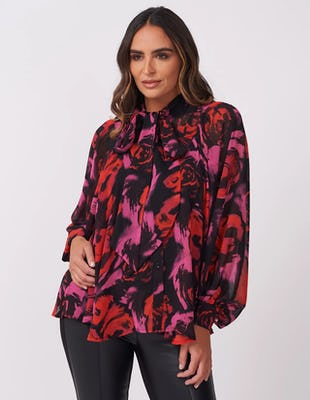 Dark Rose Sheer Blouse
