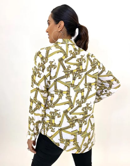 Baroque Mirror Print Blouse