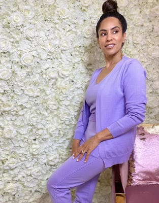Three Piece Lilac Lounge Set