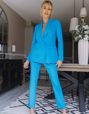 Turquoise Two-Piece Suit