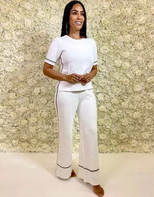 Ivory Knit Loungewear Set