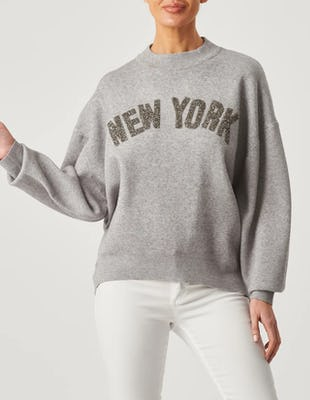 Grey New York Jersey Jumper