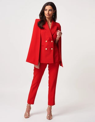 Red Cape Blazer Jacket