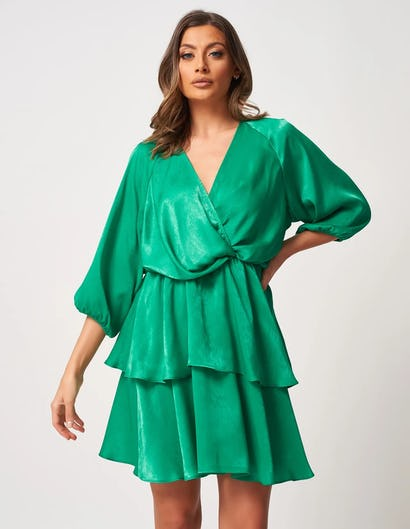 Green Layered Dress