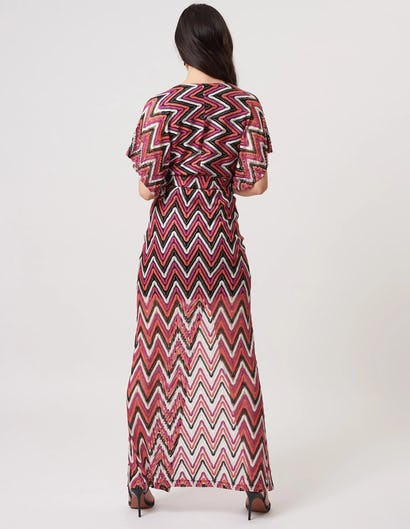 Multi Coloured Crocheted Embellished Maxi Dress