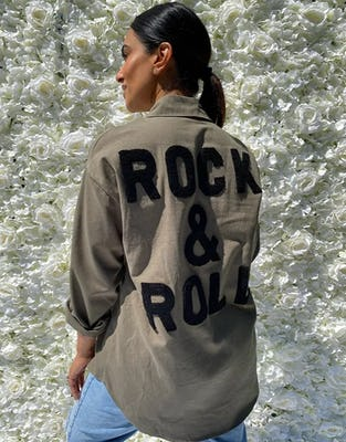 Khaki Rock & Roll Shirt