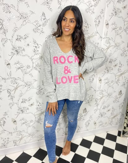 Grey Rock & Love Jumper