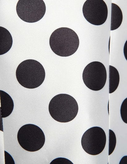 Black and White Polka Dot Print Cropped Occasion Jacket